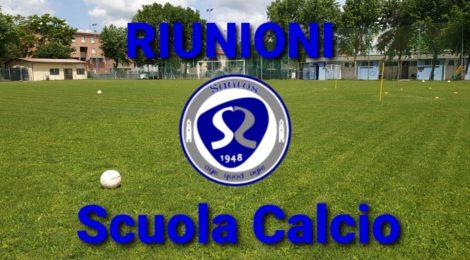 RIUNIONI SCUOLA CALCIO!!!
